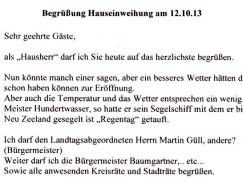 Begrüßungsrede Denk-Haus Dachau von Peter Denk
