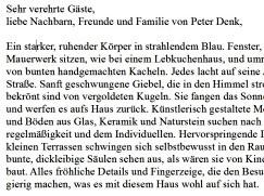 Eröffnungsrede Denk-Haus Dachau von Bärbel Schäfer