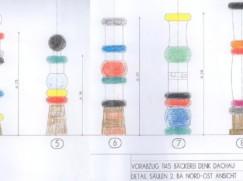 Säulen-Zeichnung Denk-Haus